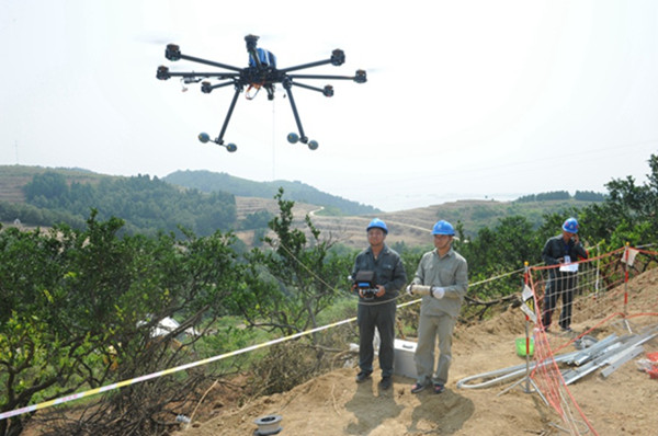湖北十堰:应用无人机开展电网巡检