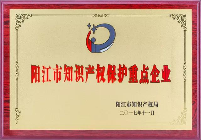 喜讯!祝贺纳丽德被评为阳江市知识产权保护重点企业(组图)