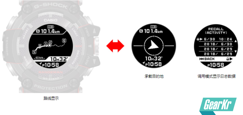 CASIO推出全球首款太阳能GPS导航腕表—G-SHOCK GPR-B1000:日照4小时,导航1小时