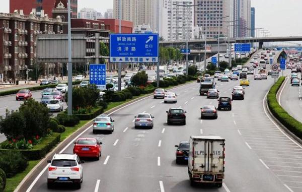 天津快速路设专用车道 还有电子警察摄录!(图)