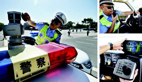 山西太原:交警扫街车上路如何抓拍车辆违章?记者实地体验(图)