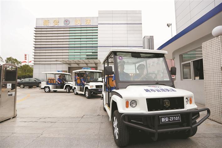 广东深圳新安综合执法队新增电瓶车上路巡查(图)