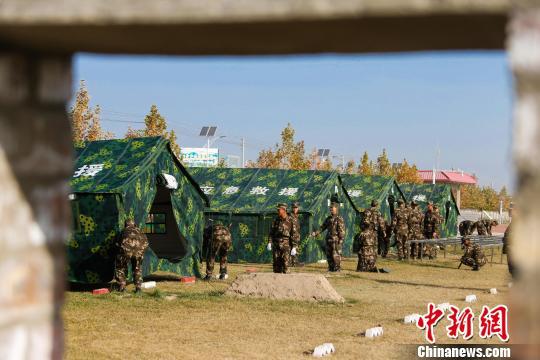 驻藏武警某部新兵军营展风采(组图)