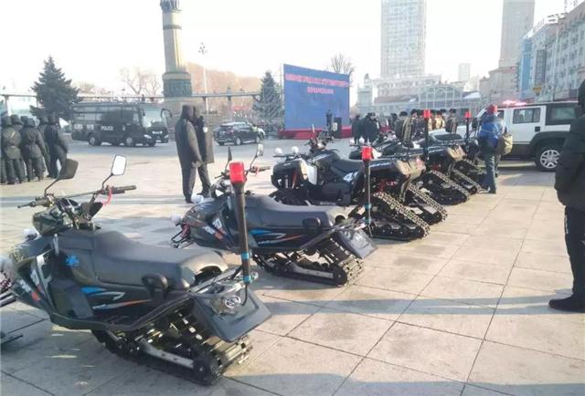威武!跃迪警用全地车、跃迪雪地摩托车保驾冰城春节平安(附视频)