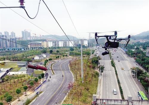 广西南宁实现无人机自动巡视电网(图)