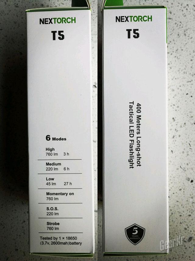 纳丽德T5探照手电评测(组图)