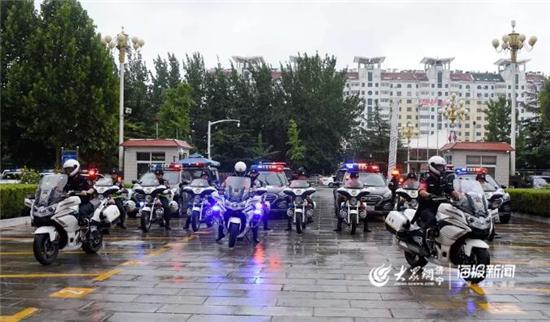"""济宁市公安局""""猎鹰行动队""""成立 打通治安防控、交通管理""""最后100米""""(组图)"""