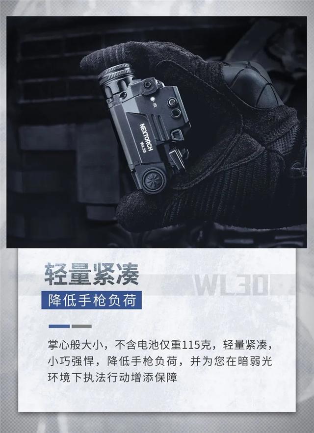 新品上市|纳丽德三光源合一枪灯WL30,照明与瞄准兼备(组图)